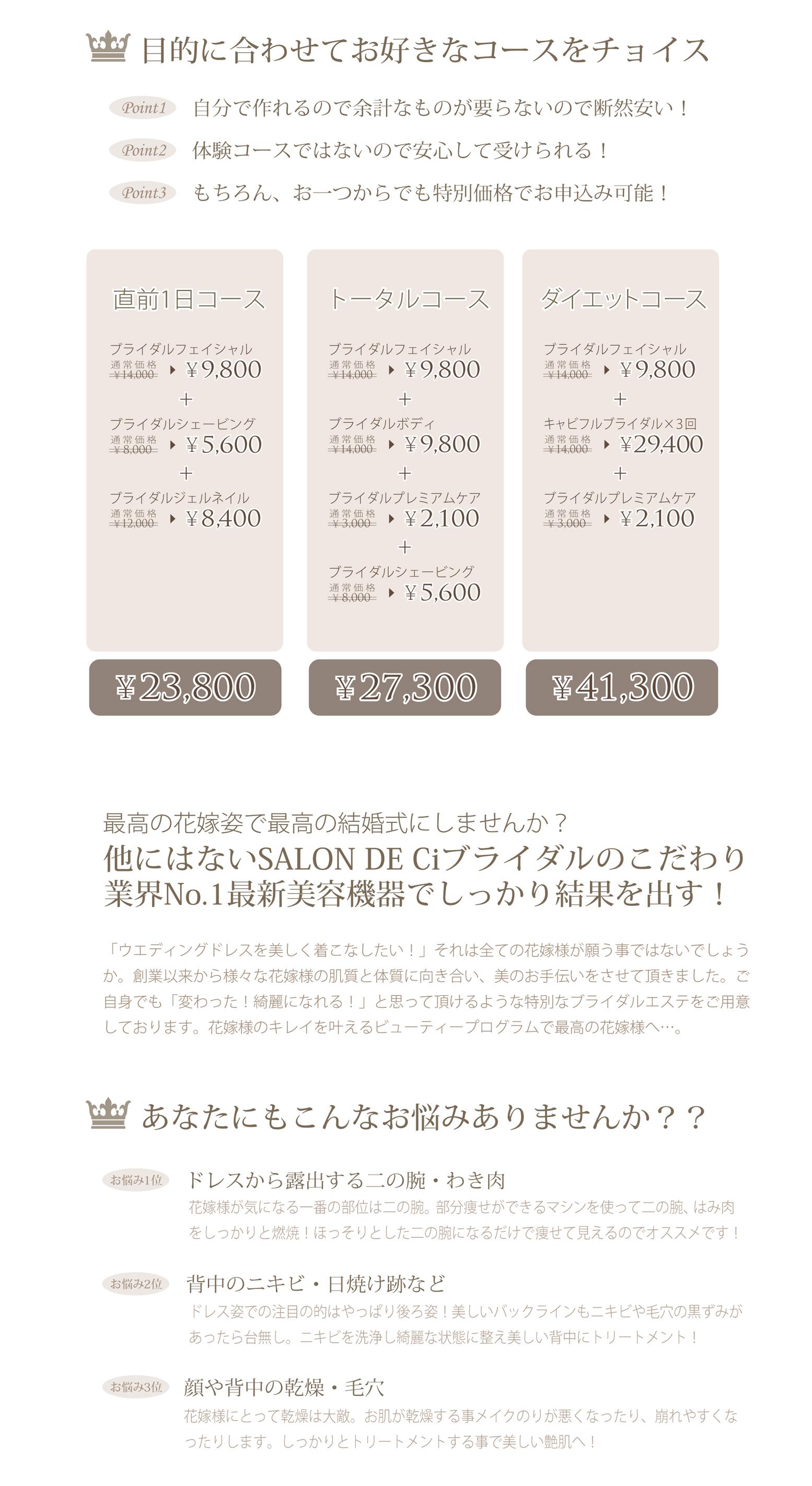 ③ブライダルキャンペーン(計算式)