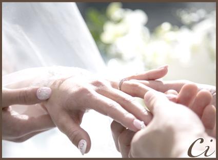 指輪交換のコピー
